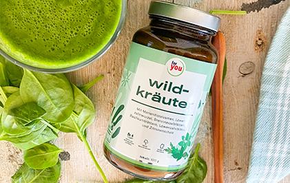 rezept-green-power-smoothie-mit-for-you-wildkräuter
