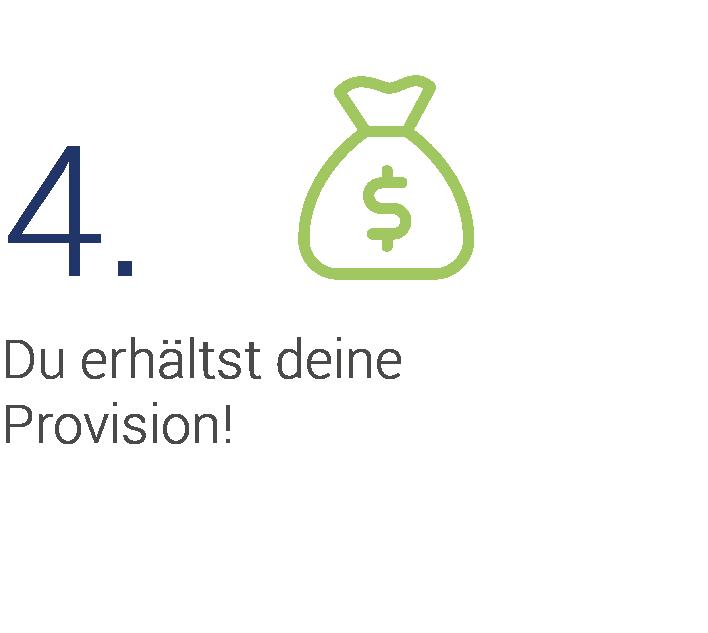 Schritt 4 - Provision wird ausgezahlt