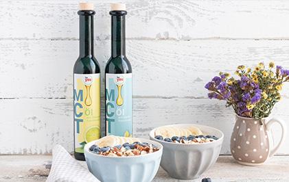 Vanille-Blaubeer-Porridge mit Extra-Kick